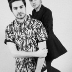 Nella foto Mirko Fontana e Diego Marquez, designer del brand au jour le jour