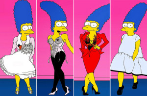 Marge Simpson, icona fashion per AleXsandro Palombo