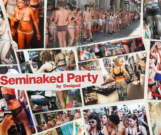 Seminaked Party by Desigual: i saldi cominciano… svestiti!