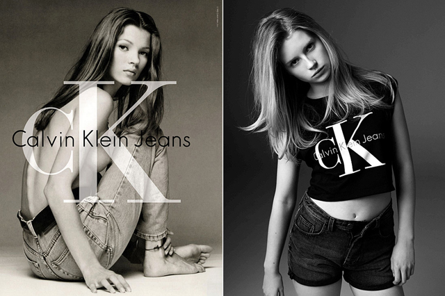 In Kate's #Calvins. Lottie Moss alla conquista del mondo della moda
