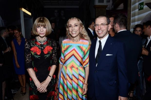Anna Wintour con la Direttrice di Vogue Franca Sozzani e Jonathan Newhouse © BLOGOSFERE