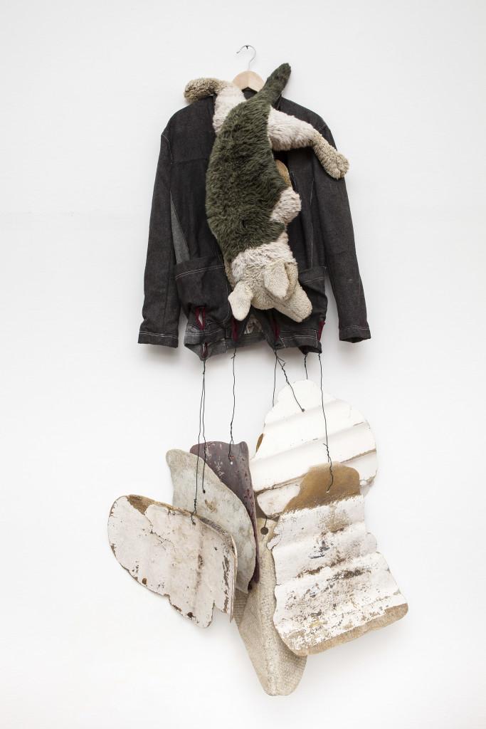 Claudia Losi, Letter Jacket_Balena Project, Antonio Marras, 2004/2014, giacca in lana e tessuto stampato, tecnica mista, dimensioni variabili. Photo by Andrea Rossetti. Courtesy of the Artist