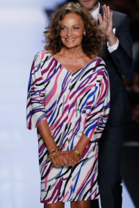 La stilista Diane von Fürstenberg