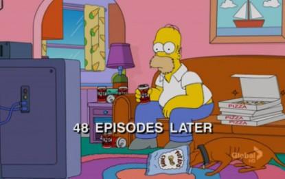 """Anche i Simpson ironizzano sulla """"dipendenza"""" da Netflix (Credits hellogiggles.com)"""