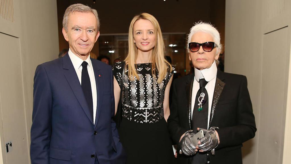 Bernard Arnault, Delphine Arnault, Karl Lagerfeld ph. sito LV