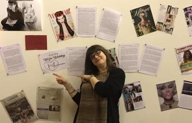 Nella foto la giornalista ed ex allieva del master moda Eidos, Francesca Favotto