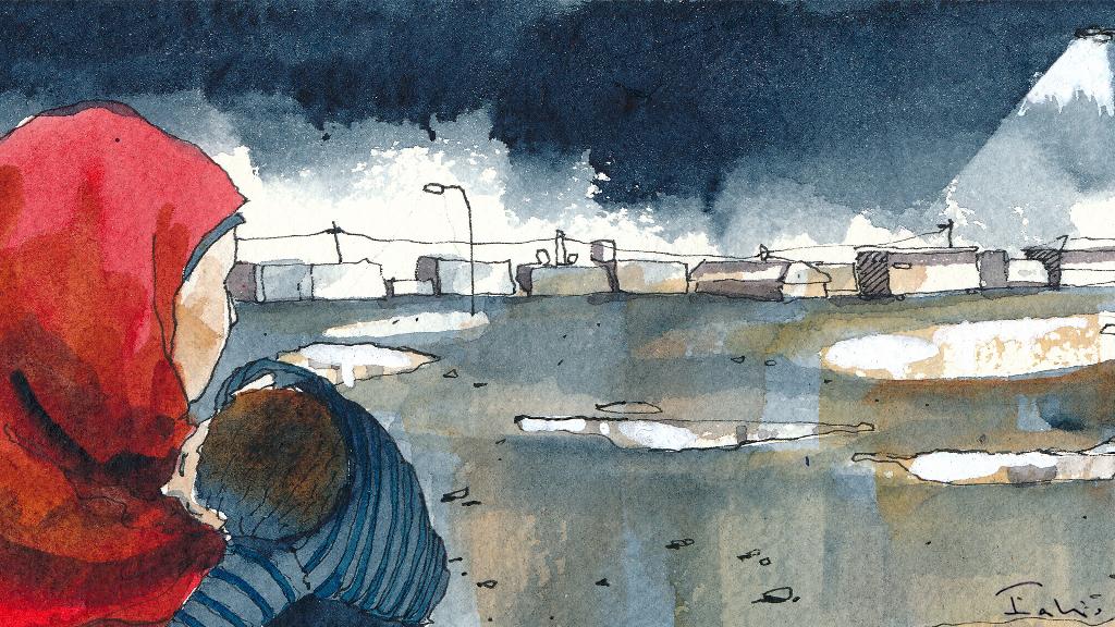 Inside Za'atari_Illustrazione di Fabio Barilari