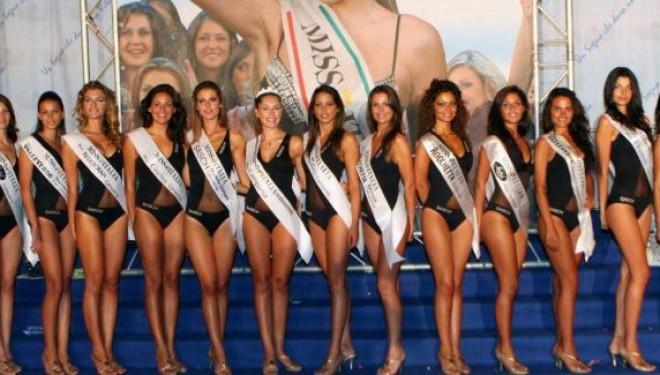 Nella foto alcune concorrenti di Miss Italia