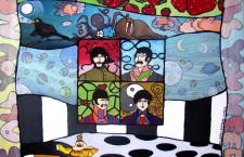 """All you need is paint"", la Pop Art omaggia i Beatles al Margutta Veggy Food & Art"